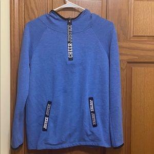 Girls Justice Cheer 1/4 zip hoodie. EUC.